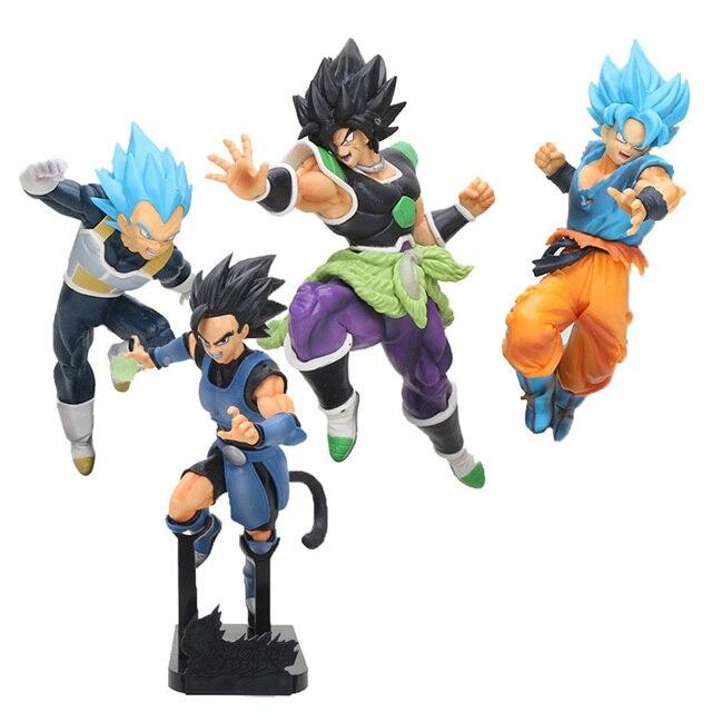 Dragon Ball Z Super Soldados Finais Do Filme Estatueta Broly Super Dragon ball goku vegeta Figura Collectible Modelo Brinquedos Boneca