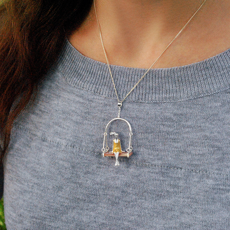 Fine Jewelry Miss Rabbit Pendant without Chain Accessory