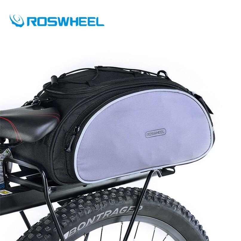 Roswheel MTB Road Bike Rear Rack Carrier Bag Mountain Bicicleta Bicycle Trunk Bag Cycling Back <font><b>Seat</b></font> Panniers With <font><b>Rain</b></font> Cover
