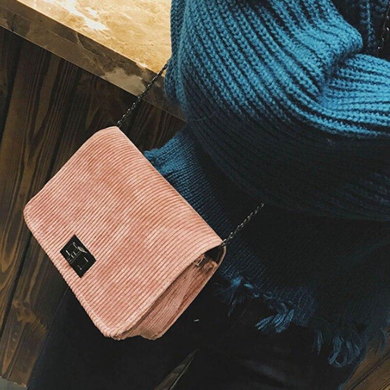 Women`s Messenger Bags Crossbody Shoulder Bags Wool Hasp Handbag Bolsas Feminina Casual Leather Clutch