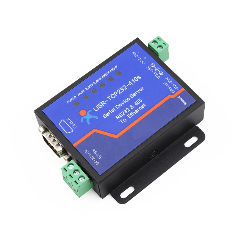 Q18039 USR-TCP232-410S Terminal Power Supply RS232 RS485 to TCP/IP Converter Serial Ethernet Serial Device Server q18040 usriot usr n520 serial to ethernet server tcp ip converter double serial device rs232 rs485 rs422 multi host polling
