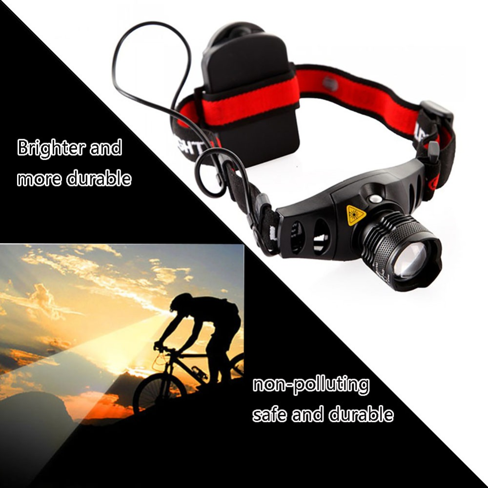 Professional High Quality 4 Modes Waterproof Q5 LED Headlamp Mini Headlight Zoom In/out Head Light For Riding Camping Outdoor