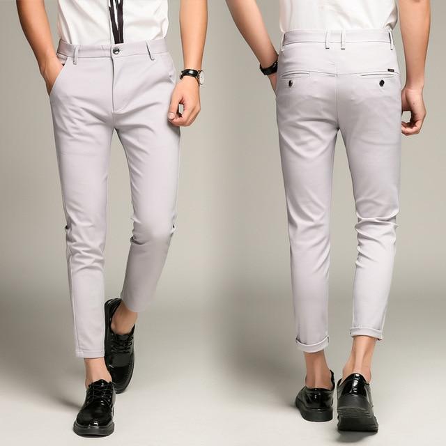 5 Color Slim Soft Stretch Casual Pants  2