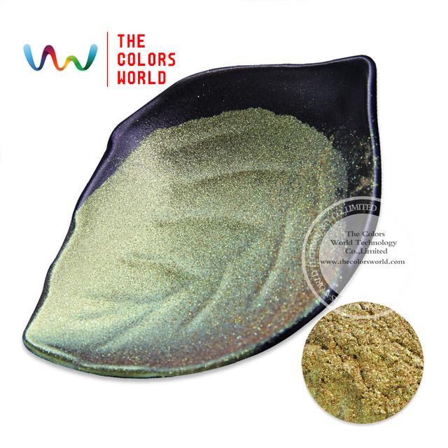 TCWB-173 Verde y Oro efecto de cambio de Color Camaleón mágico polvo de pigmento nacarado 1 Pack = 10g