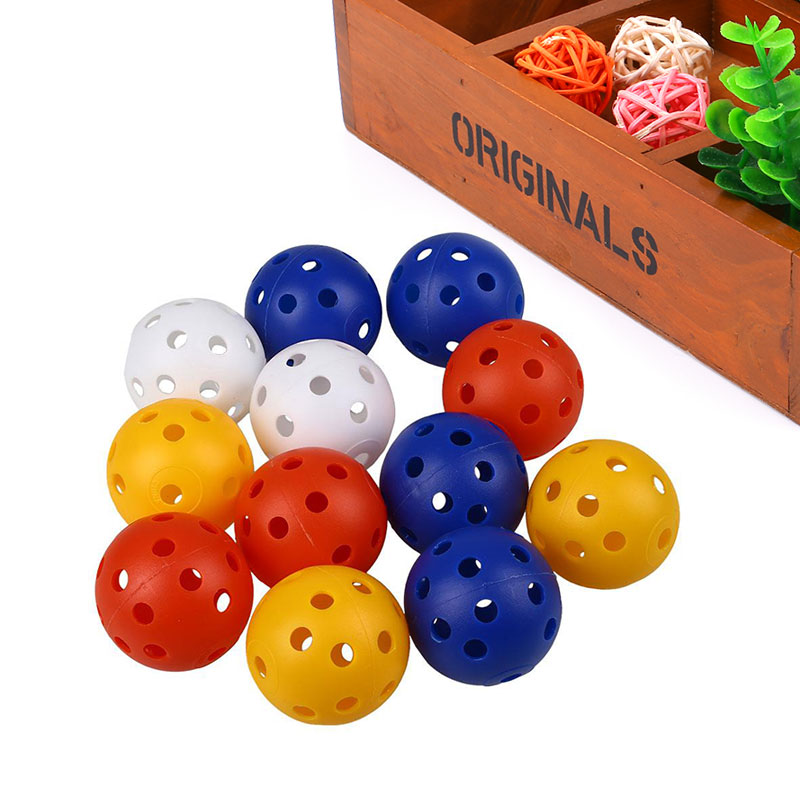50Pcs Plastic Whiffle Airflow Hollow Golf Practice Training Perforated Balls