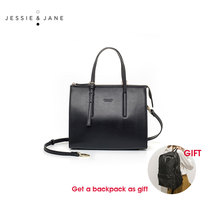 JESSIE & JANE Designer Brand Women's Fresh Split Leather Handbag 1565