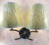 American Country Fabric Wall Lamps Bedside Lamps Minimalist Hotel Rooms Exhibition Halls Home Bedroom And Other