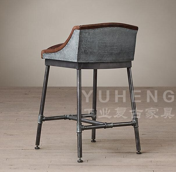 American coffee industry leather bar chairs chair stool - Mobiliario vintage industrial ...