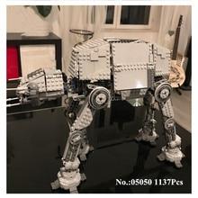 H & HXY EN STOCK 05050 Étoiles 1137 pcs Série Wars AT-AT le Robot Électrique Télécommande Blocs de Construction Jouets Compatible 75054 Cadeau