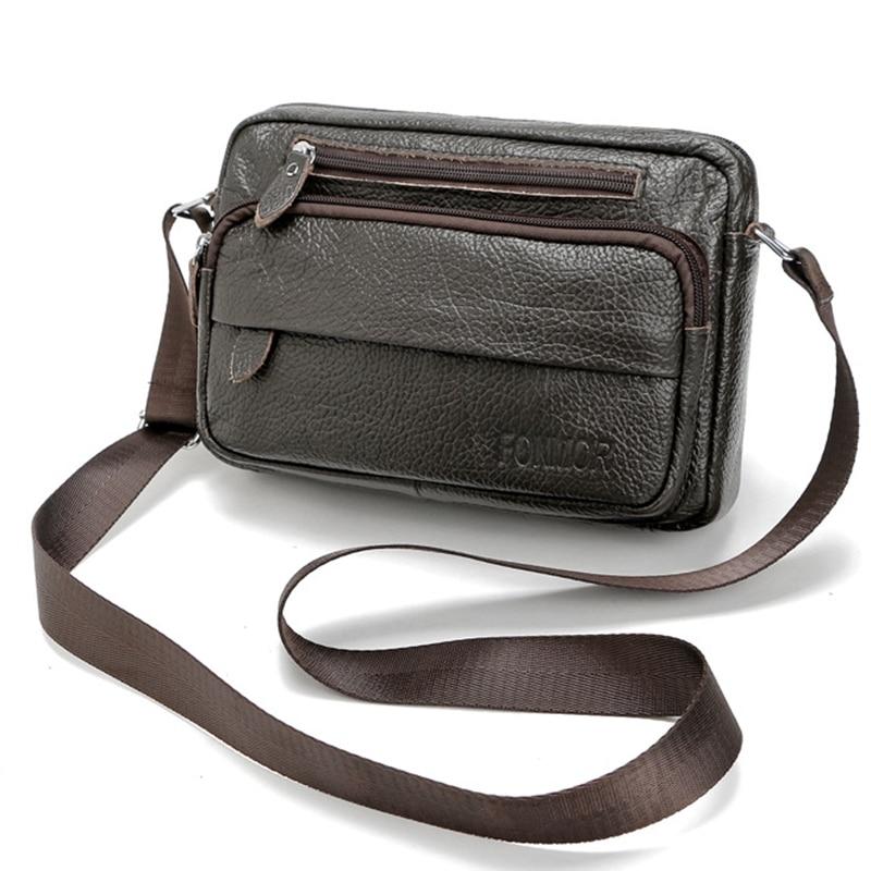 New Vintage Genuine Leather shoulder bags for men High Quality Brand mens messenger bags Travel small Crossbody Bag
