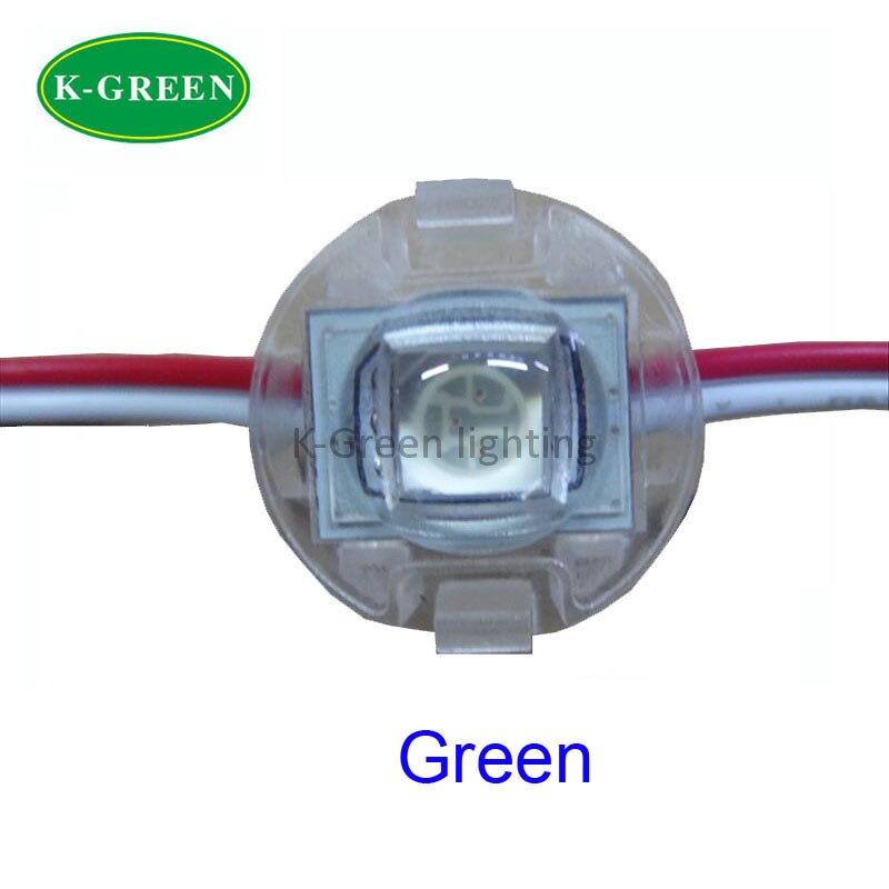 200X D20mm GREEN DC12V  LED point light for decoration 1LED 5050SMD PCS  20PCS module string express free shipping
