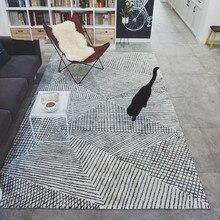 Modern Geometry Carpet Livingroom Home Decor Bedroom Thick Nordic Acrylic Rug Sofa Coffee Table Floor Mat Study Room Rugs