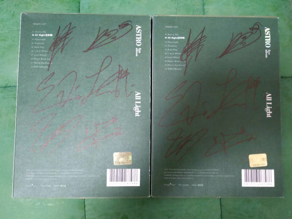 hand signed ASTRO autographed album ALL LIGHT K-POP limited 022019hand signed ASTRO autographed album ALL LIGHT K-POP limited 022019