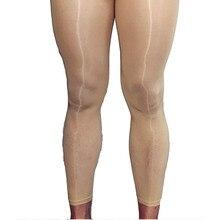 Для мужчин неженкие оболочка масло Блестящая Глянцевая Прозрачная 5D Передняя летучая нога мокрого вида Колготки Чулки Леггинсы Нижнее белье для него