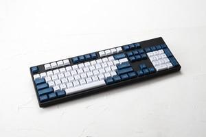 Image 4 - Dsa pbt haut imprimé légendes blanc bleu Keycaps gravé au Laser gh60 poker2 xd64 87 104 xd75 xd96 xd84 cosair k70 razer blackveuve