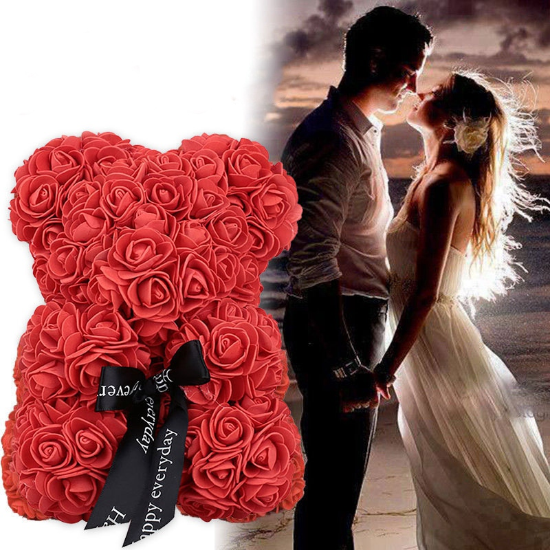 New-23Cm-Foam-Bear-Of-Roses-Bear-Rose-Flower-Artificial-2019-New-Year-Gifts-For-Women (4)