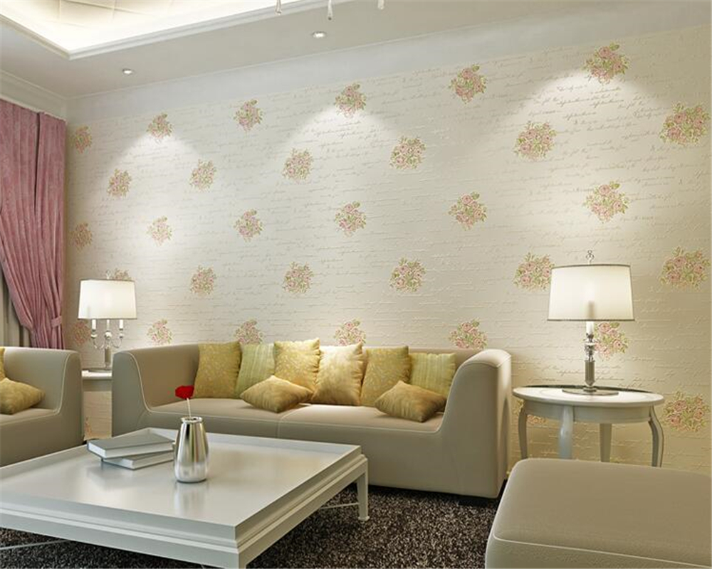 beibehang Fashion personality pastoral nonwoven 3d wallpaper bedroom living room room sofa background wallpaper papel de parede beibehang european personality pastoral