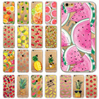Watermelon Fruits Flowers Case For Apple iPhone 5 5S SE 6 6s Silicon Soft TPU Cover Pineapple Lemon Rose Cherry Clear Back Skin