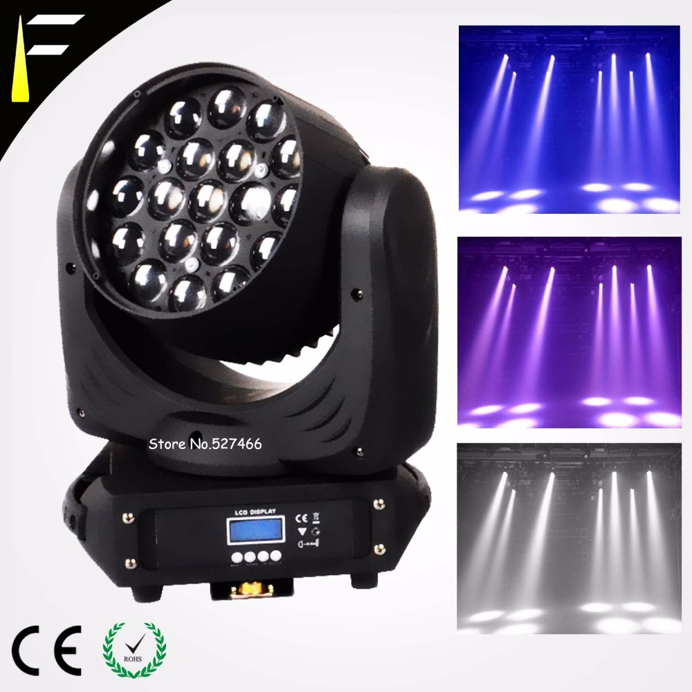 Quad LED Moving Head 19*12w LED RGBW Wash/Fast Zoom Light DMX512 Moving Heads Professional DJ/Bar/Party/Show/Led Stage Light Mac