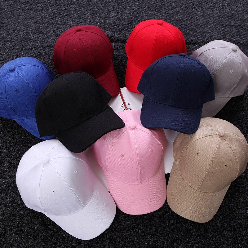 The New 10 Kinds Solid Color Snapback Cap Women & Men Baseball Cap Ulzzang Casquette Gorras Planas hip hop Caps Hats For Women