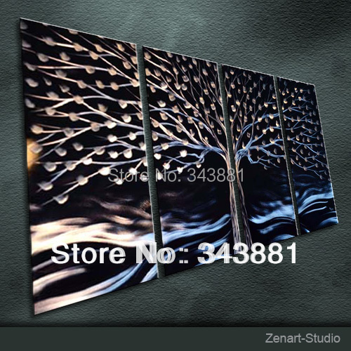 Original metal wall art modern handmade painting sculpture for Origine metal resinence