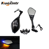 LED Motorcycle Turn lights Side Mirrors For Yamaha fz1 fz6 xj6 ybr Suzuki bandit 650 600 1200 gsf sfv Ducati monster 600 750 900