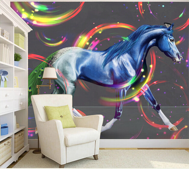 Custom horse wallpaper 3D, the art of horse wall painting for the living room TV background wall waterproof textile paper textile volume 1 issue 3 the journal of cloth and culture textile