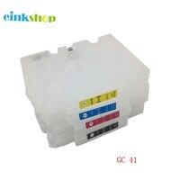 GC 41 מחסנית דיו Refillable עם שבב לricoh GC41 לricoh SG3100 SG2100 SG2010 SG2100l SG2010L SG3110dnw