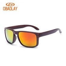 2018 homens dos óculos de sol pintura woodern mulher óculos de armação de  madeira óculos de sol de condução anti UV400 holbrk Do. feaff6a624
