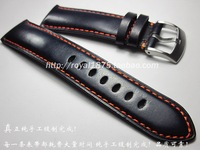 High Quality Handmade 23mm Dark Blue For AT8020 54LJY8031 56Lfor Cruising Eagle AT9037 Cow Leather Watchband
