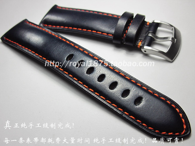 High quality handmade 23mm dark blue for AT8020-54LJY8031-56Lfor cruising eagle AT9037 cow leather watchband  for Tissot strap велосипед altair city high 28 19 2015 dark blue