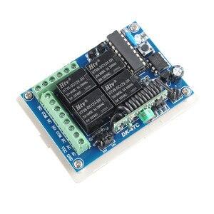 Image 2 - Беспроводной пульт дистанционного управления, 12 В/24 В, 4 канала, 10 А, светодиодный передатчик, 433 МГц, TX RX