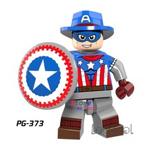 1PCS model bouwstenen action superhelden Cowboys Captain America Fantastische Beste diy speelgoed voor kinderen gift(China)