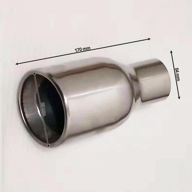 Калибр 54 мм Винт Стационарный тип автомобильный хвостовик из нержавеющей стали хвостовый глушитель для многих моделей автомобилей