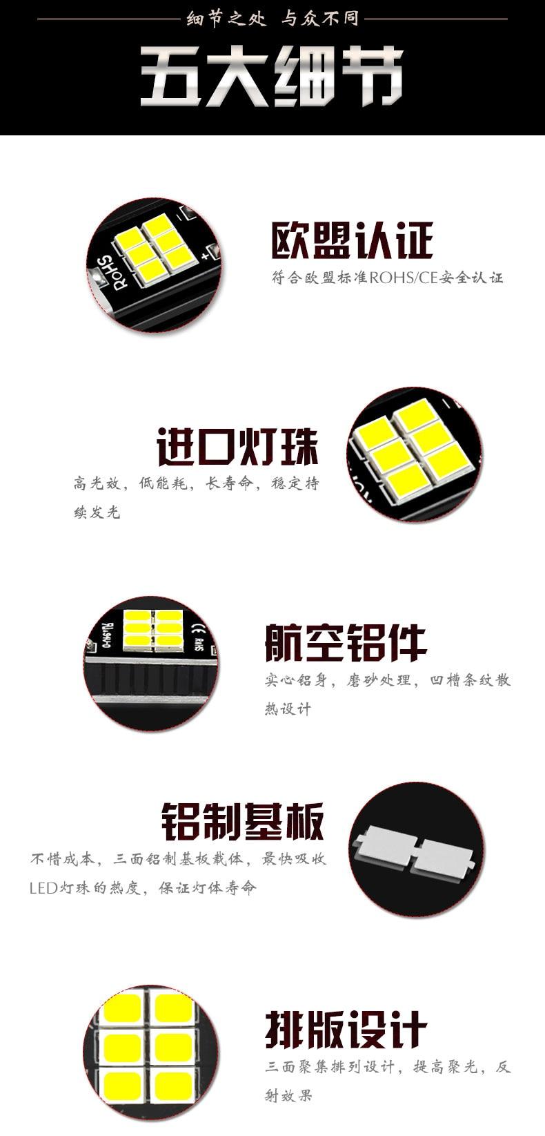 YIJINSHENG 4 Pcs T10 Led Bulb Super Bright 45 SMD 1000Lm 6000K Led Canbus Error Free 912 921 T10 T15 4014 Led Bulbs for Auto Backup Reverse Lights