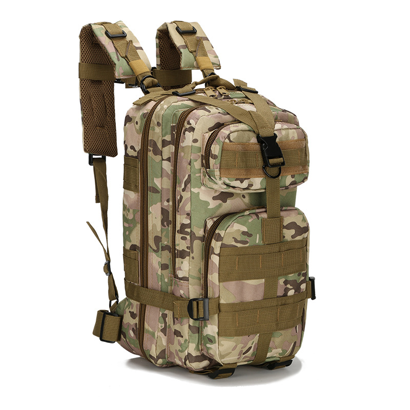 2019 New Outdoor Tactical Backpack 3P Military 30L Molle Bag Army Sport Travel Rucksack Camping Hiking Trekking Camouflage Bag in Climbing Bags from Sports Entertainment