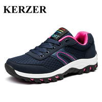 KERZER Trekking Hiking Shoes Woman Mesh Breathable Hunter Boots Spring Summer Mountaineering Shoes Blue Purple Hunter
