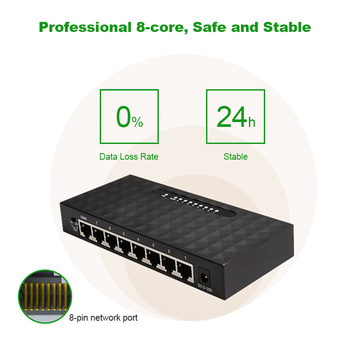 Gigabit Nerwork 8 Port Switch 10/100/1000Mbps Gigabit Ethernet Network Switch Lan Hub High Performance Ethernet Smart Switcher