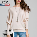 Batwing Sleeve Women Sweater 2016 Fashion New Long Sleeve Knit Shirt Female Pullover Women Clothing