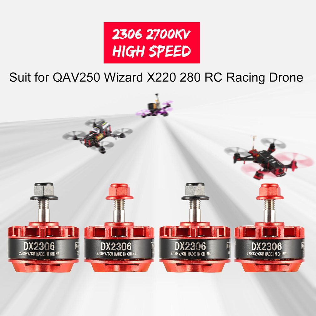 Hot! 4Pcs Brushless Motor 2306 2700KV 2-4S CW/CCW Brushless Motor for QAV250 Eachine Wizard X220 280 RC Drone Quadcopter ModelHot! 4Pcs Brushless Motor 2306 2700KV 2-4S CW/CCW Brushless Motor for QAV250 Eachine Wizard X220 280 RC Drone Quadcopter Model
