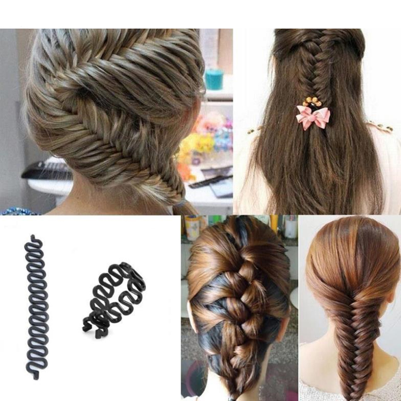 1PC Hairpin Hair Braiding Braider Tool Roller With Magic Hair Twist Accessories For Women's Barrette Elastic Hair Clips For Girl