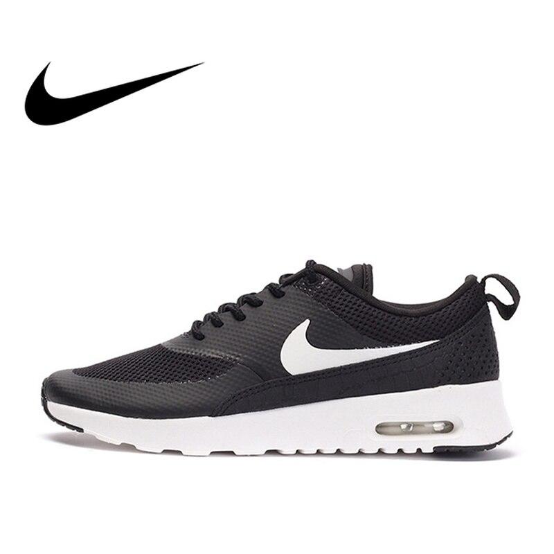 D'origine NIKE AIR MAX THEA Chaussures de Course des Femmes Officielles Authentique Breathble Noir Sports de Plein AIR Sneakers Confortable 599409