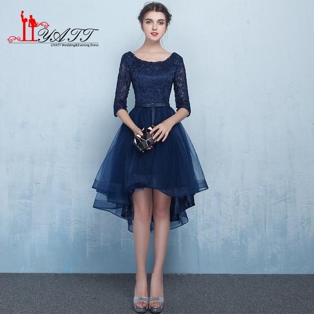 Elegant Cheap High low Prom Dresses 2017 Short Front Long Back ...