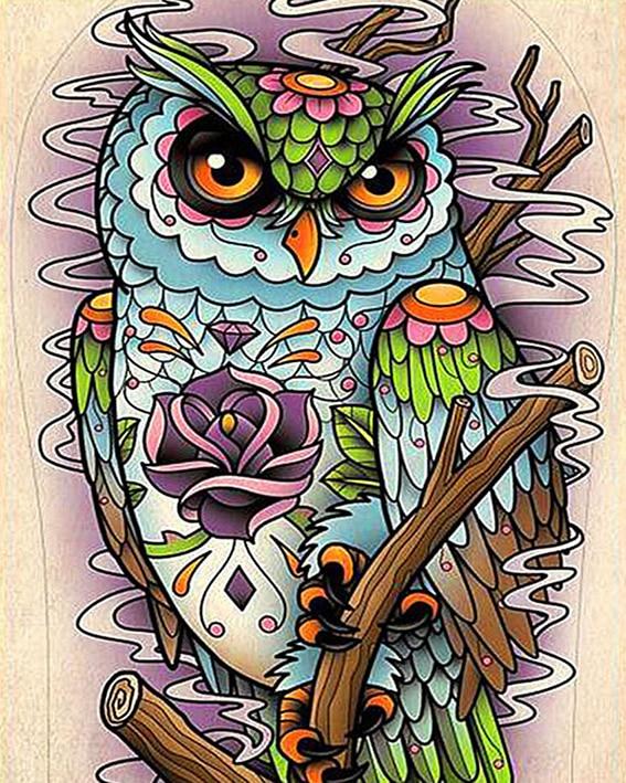 62 Gambar Mewarnai Hewan Burung Hantu Gratis Terbaru