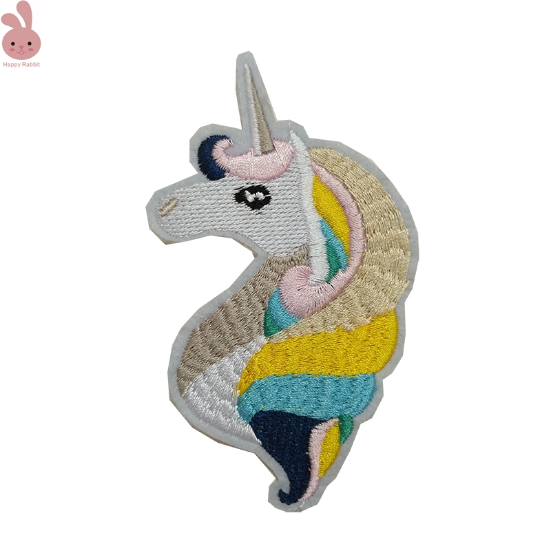 2pcs/lot Cartoon horse Patch Iron On Embroidered color horse Patches Clothes DIY Applique Embroidery Hat / Bag Accessories