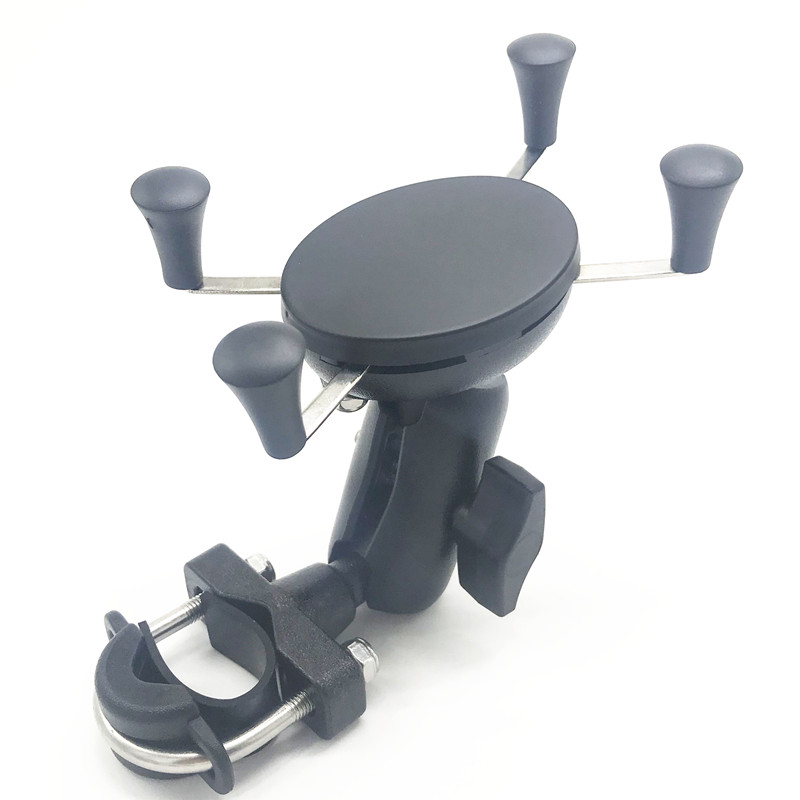 Motorcycle Bicycle Handle Bar Rail Mount Bar Mount Clamp Phone Holder Stand for 4-6 inch Cell Phone and GPSMotorcycle Bicycle Handle Bar Rail Mount Bar Mount Clamp Phone Holder Stand for 4-6 inch Cell Phone and GPS