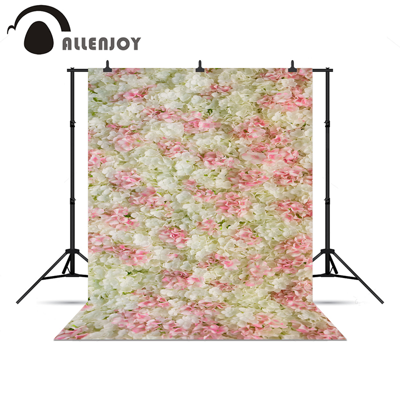 Allenjoy photographic camera Pink white flowers baby shower wedding love background for photo shoots photo backdrop vinyl