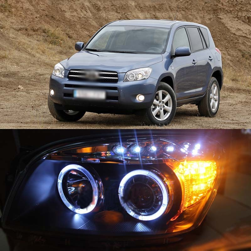 Ownsun New Dragon Eye LED DRL Angel Projector Lens Headlight For Toyota RAV4 08-11