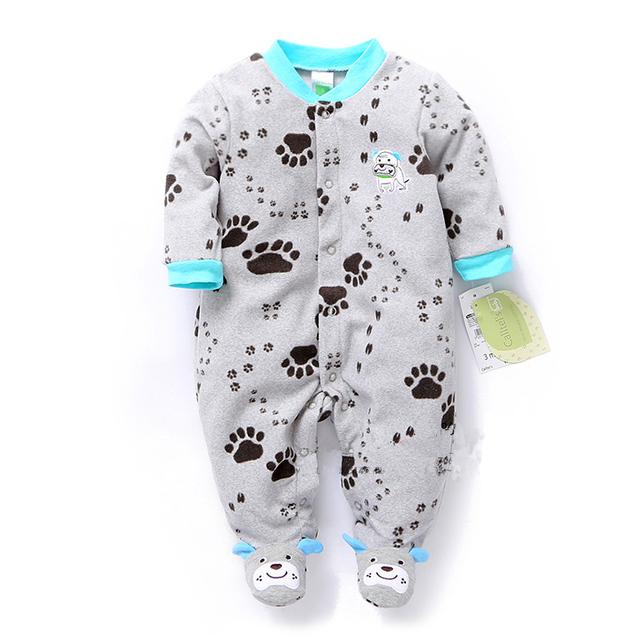 Primavera y otoño ropa de bebé bebé mameluco polar recién nacido ropa infantil ropa de una sola pieza del mameluco recién nacido ropa de dormir