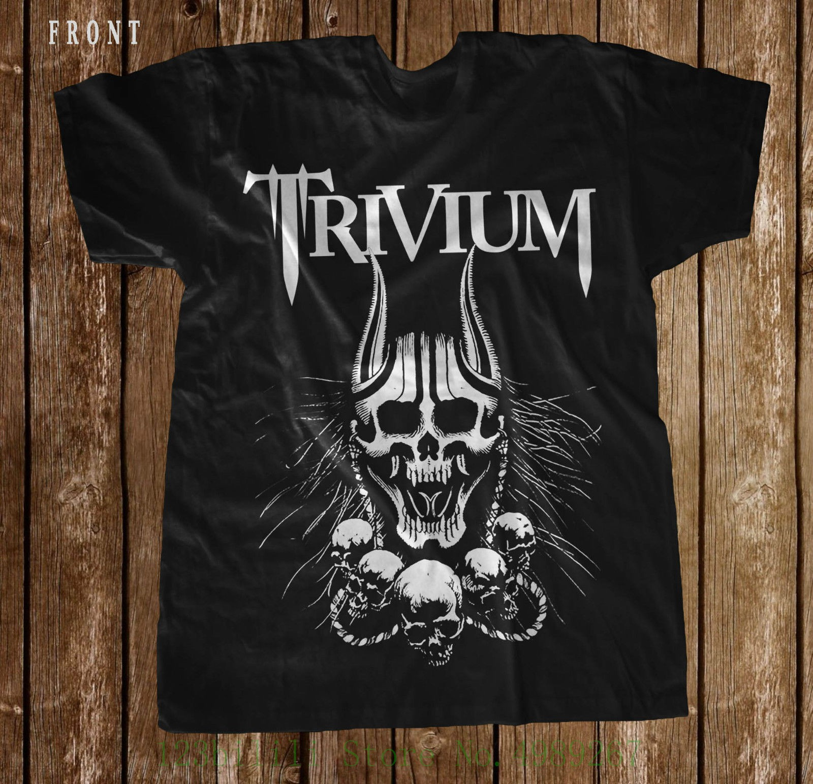 Trivium Silence In The Snow тяжелый металл тревога футболка Размеры: от S до 7xl Мужская Летняя
